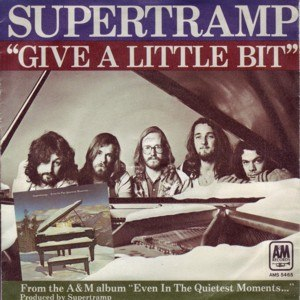 Give a Little Bit - Image: Supertramp Give a Little Bit single cover