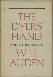 W. H. Auden Critical Essays
