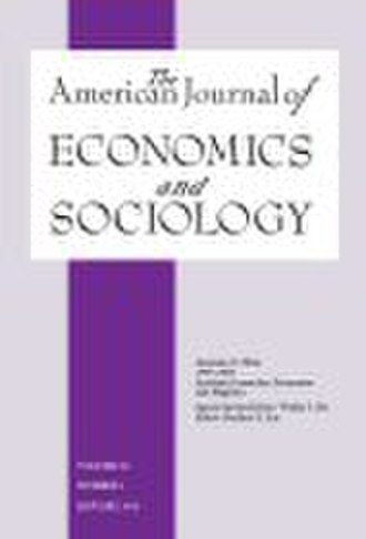 The American Journal of Economics and Sociology - Image: The American Journal of Economy and Sociology cover
