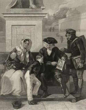 Royal Hospital School - Greenwich Pensioner, 1845