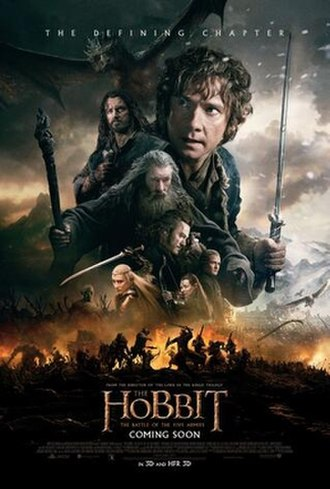 The Hobbit: The Battle of the Five Armies - Theatrical release poster