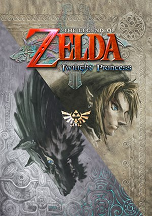 The Legend of Zelda: Twilight Princess - North American Wii box art, featuring Link in Hylian and wolf forms