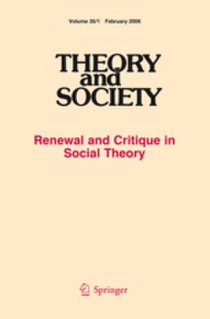 Theory & Society - Image: Theory and Society (Cover)