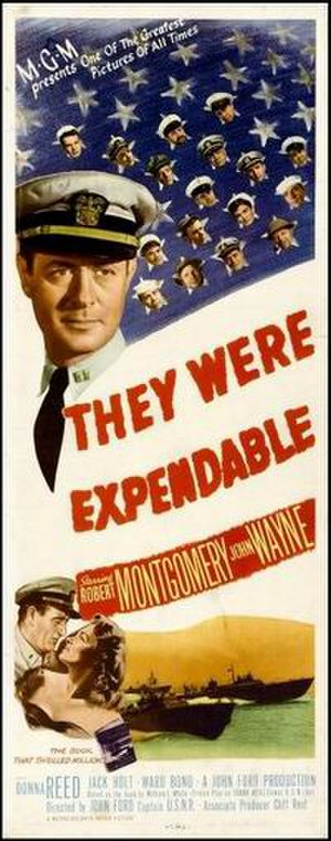 They Were Expendable - original theatrical poster