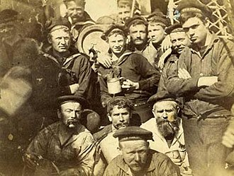 Torrent (ship) - The crew of Torrent in 1868.
