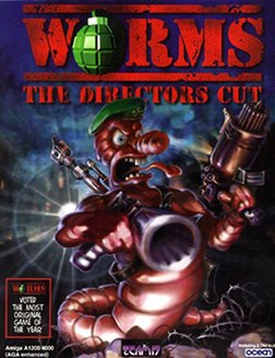 Worms: The Director's Cut cover (Amiga)