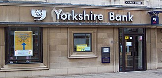 Yorkshire Bank - A high-street branch of the Yorkshire Bank in Peterborough