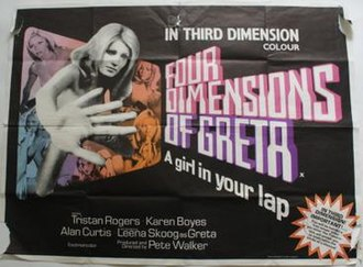 Four Dimensions of Greta - UK theatrical release poster