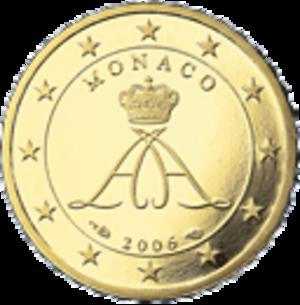 Monégasque euro coins - Image: 10 eurocent mo series 2