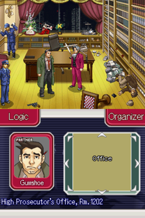 Ace Attorney Investigations: Miles Edgeworth - An investigation phase, where the player searches for evidence.