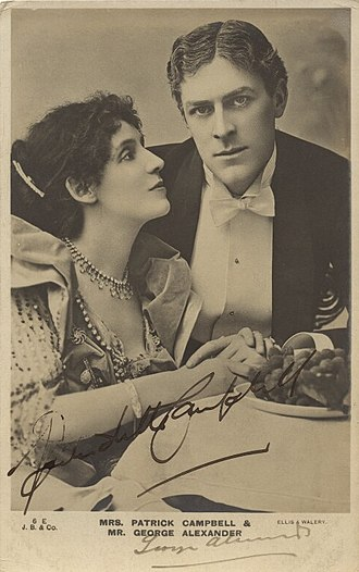 George Alexander (actor) - With Mrs Patrick Campbell in The Second Mrs Tanqueray, 1893