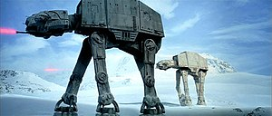Walker (Star Wars) - The Imperial AT-AT Walkers at the Battle of Hoth were created using stop-motion animation