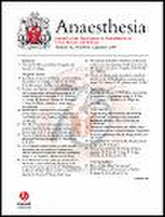 Anaesthesia (journal) - Image: Anaesthesia journal cover