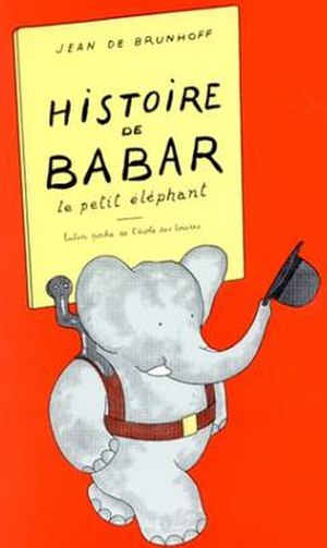 Babar the Elephant - Cover of the first Babar story, Histoire de Babar (Story of Babar), published 1931