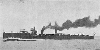 Pará-class destroyer (1908) - Mato Grosso steaming at high speed