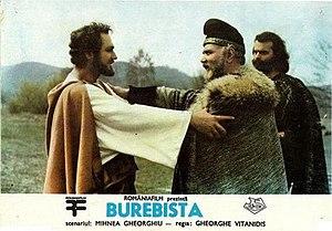 Burebista (film) - Akornion is greeted by Burebista and Comosicus (film poster)