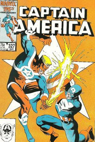 U.S. Agent (character) - Image: Captain America 327 front cover