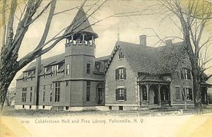 Fultonville, New York - Cobblestone Hall and Free Library