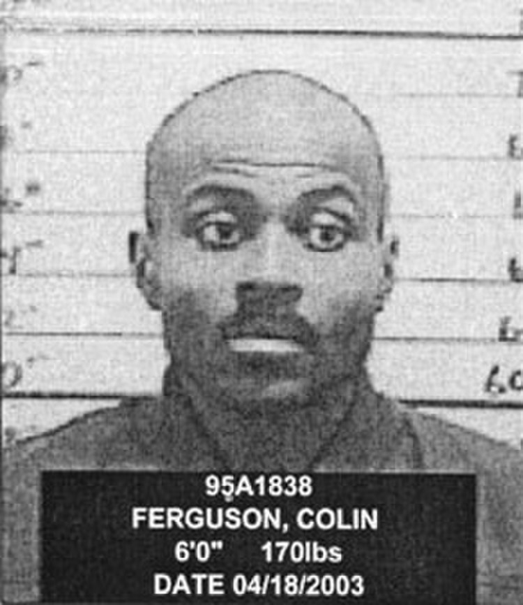 Mug shot of Colin Ferguson. by New York State Department of Correctional Services