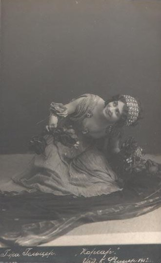 Le Corsaire - Ekaterina Geltzer as Medora in Alexander Gorsky's production of Le Corsaire. Moscow, 1912