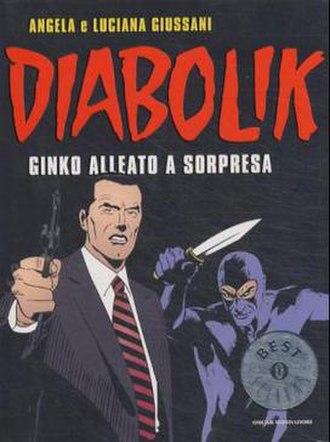 "Diabolik - Cover of Ginko Alleato a Sorpresa (""Ginko: A Surprising Ally""), featuring Diabolik and Inspector Ginko."