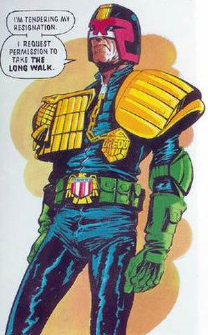 Democracy (Judge Dredd storyline) - Image: Dredd resigns