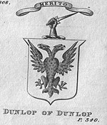 The Coat of arms of Dunlop of Dunlop