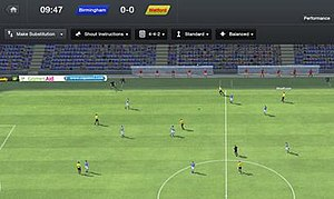 Football Manager 2013 - A simulated match between Birmingham and Watford on the PC version of Football Manager 2013.