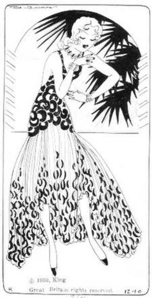 Faith Burrows - Faith Burrows' Flapper Filosofy (1930), minus caption.