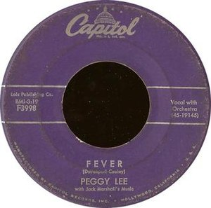 Fever (Little Willie John song) - Image: Fever peggy lee