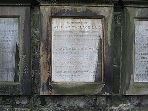 William Wallace (mathematician) - Wallace's grave in Greyfriars Kirkyard, Edinburgh, 2012