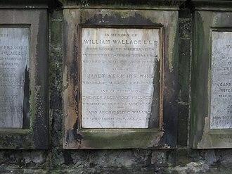 William Wallace (mathematician) - Wallace's grave in Greyfriars Kirkyard, Edinburgh, 2012