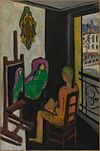 Henri Matisse, 1916-17, Le Peintre dans son atelier (The Painter and His Model), oil on canvas, 146.5 x 97 cm, Musée National d'Art Moderne, Centre Georges Pompidou, Paris.jpg