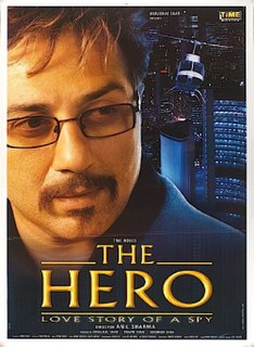 <i>The Hero: Love Story of a Spy</i> 2003 Indian spy thriller film directed by Anil Sharma