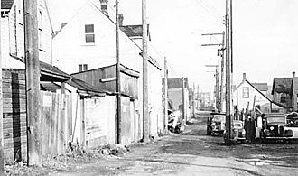 Hogan's Alley, Vancouver - Hogan's Alley, 1958. City of Vancouver Archives.