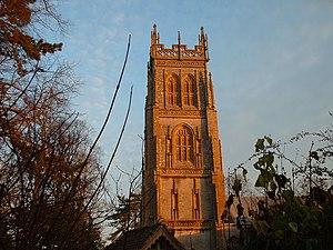 Somerset towers - Image: Huish Tower at Dawn