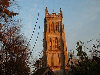 Somerset towers - The Somerset tower of St. Mary's, Huish Episcopi, was featured on the 9-pence postage stamp in 1972.