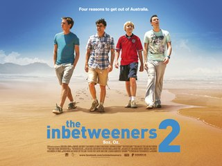 <i>The Inbetweeners 2</i> 2014 film directed by Damon Beesley and Iain Morris