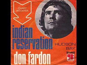 Indian Reservation (The Lament of the Cherokee Reservation Indian) - Image: Indian Reservation Don Fardon