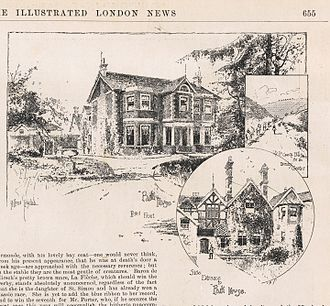 John Porter (horseman) - John Porter's Park House, Kingsclere, by Holland Tringham, in Illustrated London News, May 1892.