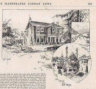 John Porter (horseman) - John Porter's Park House, Kingsclere, by Holland Tringham, in Illustrated London News, May 1892.