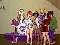 "A scene from episode#14, ""Spy School Spoof."" From left to right: Melody, Josie, Valerie, Alan, Alexandra and Alexander."