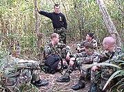 U.S. Marines training in the jungle