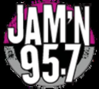 KSSX - Image: KSSX JAM'N95.7 logo