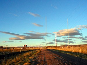 KHAT - The radio towers for KHAT, located south of Laramie, Wyoming.