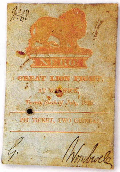 File:Lion-baiting ticket.jpg