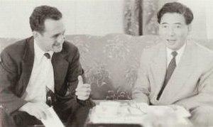 Michigan State University Vietnam Advisory Group - Wesley R. Fishel (left) meets with Ngô Đình Diệm