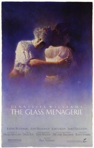 The Glass Menagerie (1987 film) - Promotional poster