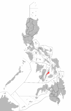 Map of Metro Cebu within the Philippines.