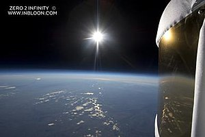Zero2infinity - Picture taken at high altitude during the microbloon 2.0 flight from November 2012